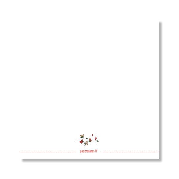 Dos Carte Joyeux anniversaire mon renard
