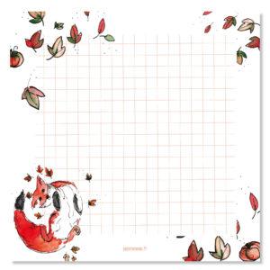 Bloc notes automne
