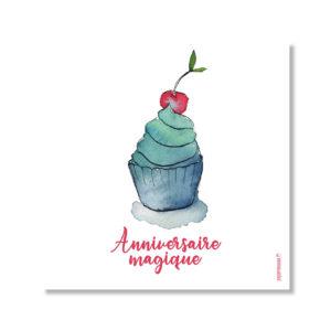 Carte anniversaire magique