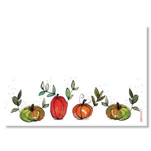 carte automne courges