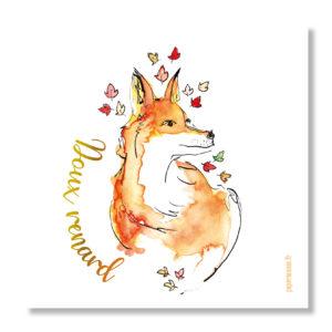 carte doux renard