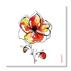 carte fleur d'automne