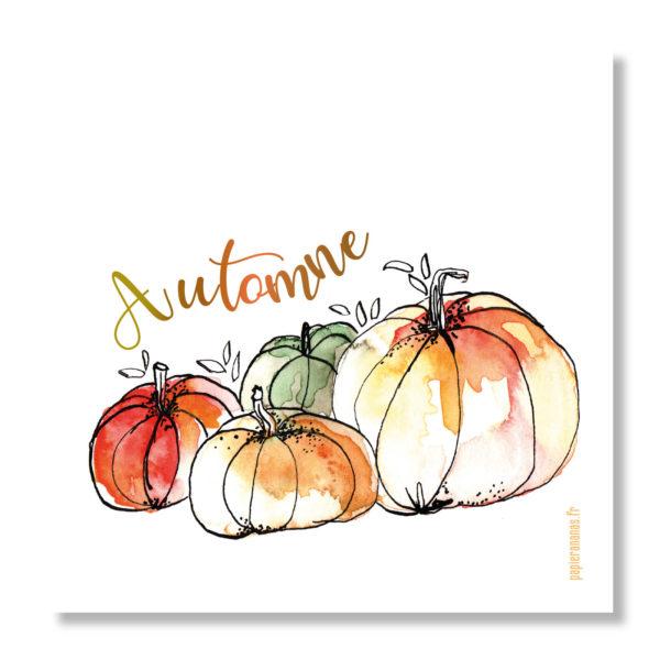 Carte courges d'automne
