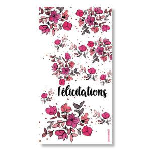carte félicitations fleuries