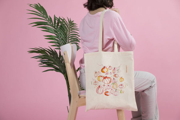 tote bag petites courges