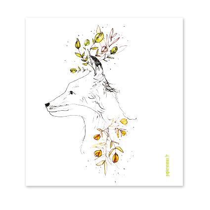 carte renard végétal
